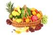 verschiedene Obstsorten im Korb