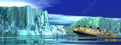 Leinwanddruck Bild Titanic boat sinking