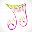 Floral Musical Note