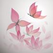Fototapete Floral - Rosa - Insekten