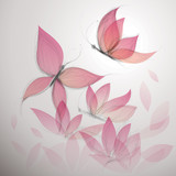 Fototapety Butterfly like flower / Surreal floral background