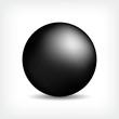 Kugel schwarz seidenmatt