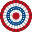 USA flag cockade