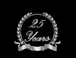 Silver 25th anniversary birthday vector