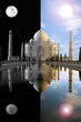 Taj Mahal, Sunlight and Moonlight