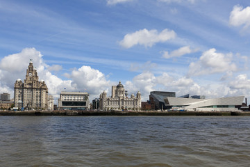 Liverpool from the ferry across the River Mersey