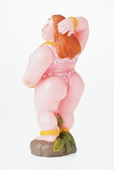 fat girl candle doll