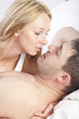loving couple in bedroom