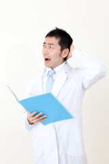 asian doctor working