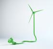 Wind turbine power cord