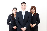 a team of asian business person