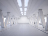 abstract architecture white interior - 40577343