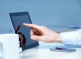 Businessman Touching On Modern Digital Tablet PC