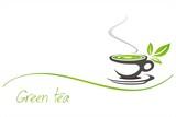 green tea, tea leaves , business logo design
