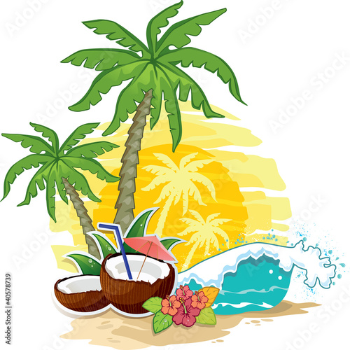 Tropical landscape coconut