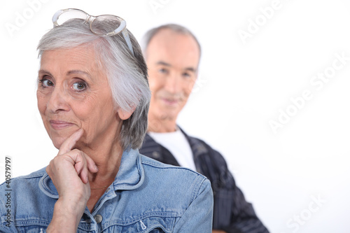 Funny middle-aged couple
