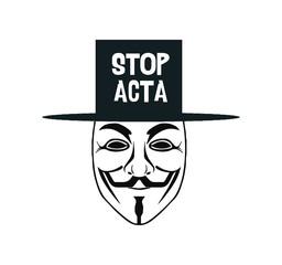 Anonymous Guy Fawkes Maske Vector - symbol acta