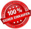 """Button Banner """"100 % Sicher einkaufen"""" rot"""