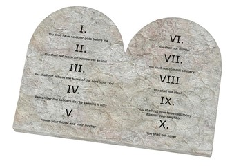 3d render of ten commandments