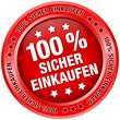 """Button """"100 % Sicher einkaufen"""" rot"""