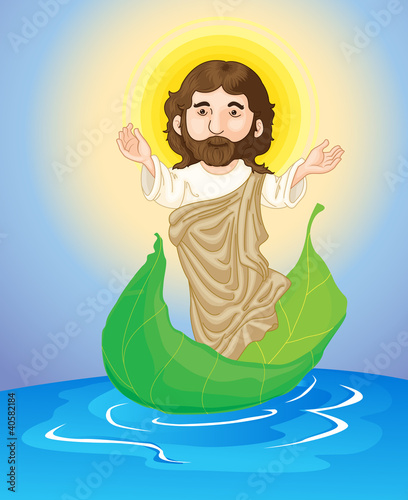 jesus floating