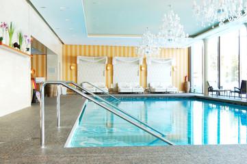 Modern SPA in the luxury hotel at ski resort, Strbske pleso, Slo
