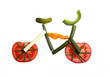 Bicycle made of different vegetables