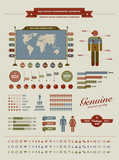 Hight quality vintage styled infographic elements poster