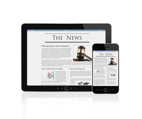 Latest news at digital tablet and smart phone