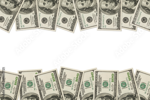 Money Border of hundred dollar bills