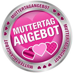 Button Muttertagangebot Herzen pink/silber