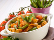 pasta with green beans and fresh tomatoes