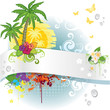 Banner tropical summer