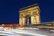 Arc de Triomphe and car lights