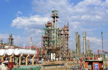 Industrias del petróleo, refinería