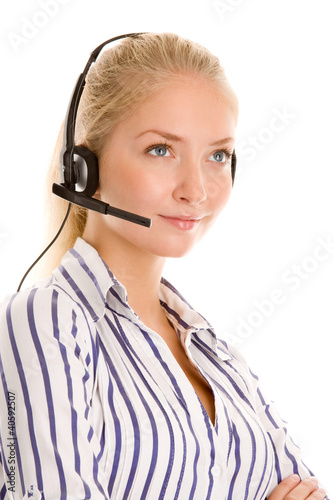 Young female telephone operator