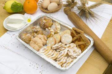 mix di dolci tipici dalla Sardegna