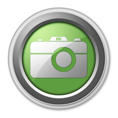 """Green 3D Style Button """"Camera"""""""