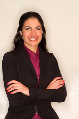 Portrait of smiling female executive
