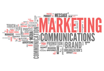 "Word Cloud ""Marketing Communications"""