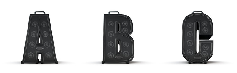 Amplifier alphabet A B C