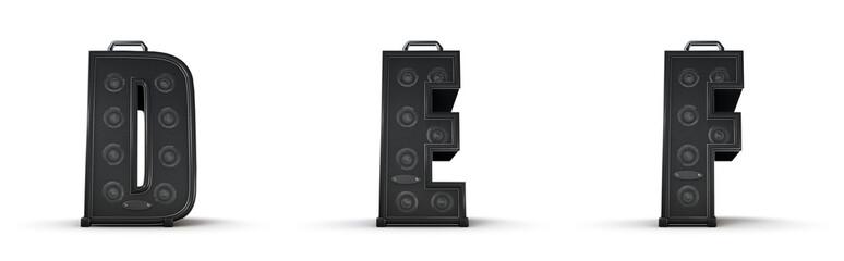 Amplifier alphabet D E F