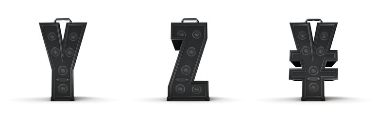 Amplifier alphabet Y Z yen