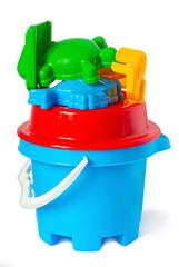 children bucket with toys