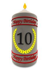 Geburtstagskerze 10 Jahre