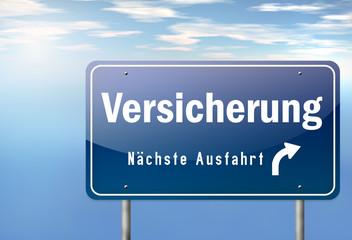 """Autobahnschild """"Versicherung"""""""