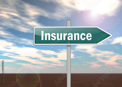 "Signpost ""Insurance"""