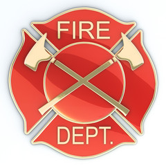 Fire department Maltese cross badge or symbol