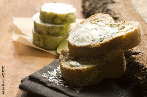 Herbs butter with lime