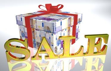 3D Geldgeschenk weiss - SALE